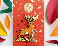 Quinn the Fox & The Isochronus Stag enamel pins