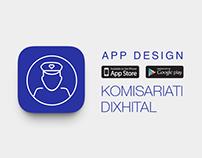 App Design - Komisariati Dixhital