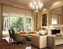 Classic livingroom rendering