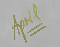 April hand lettering (4/12)