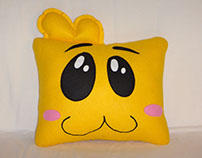 Handmade Justin Time Squidgy v1.43 Fan Art Plush Pillow