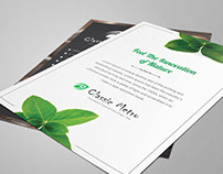 A5 Flyer Design for Tea Shop