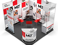 Stand for «MET» for the exhibition «MERATEK»