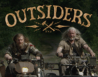 Lettering Exploration for tv show WGNA Outsiders