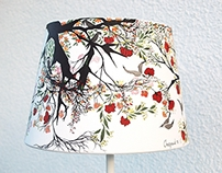 Asian painting - table lamp nr.9 - 215 Euro