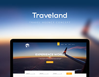 Traveland - travel agency concept