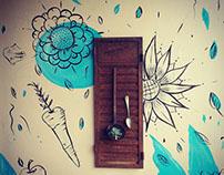 Mural para el jardín de sabores