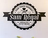 "Mural Painting for restaurant "" Sam'régal """