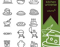 kitchen universe volume 5 free icon set