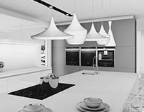 Black&White - Kitchen design in Sweden Black Frame