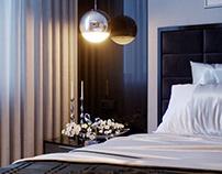 Romantic city bedroom