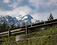 Schnee bedeckte Berge