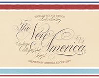 The New America • Vintage Calligraphic Script