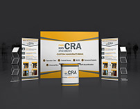 Trade show project with Backdrop Roll up Banner Design