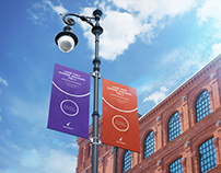 City Lamp Post Banners Mock-Ups Vol.2