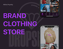 Mobile application for the DROPSHOP service