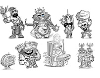 Game art characters design