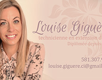 Carte d'affaires | Louise Giguère