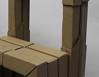 Modular System - Cardboard Chair