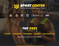 Sport Center - Events & Education Wordpress Theme