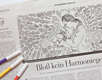 Adult Coloring for »Die Zeit«