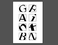 16 boxes letter compostiion