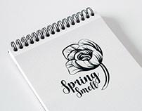 Spring smell logotype design