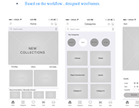 Wireframes for customer facing Mobile App