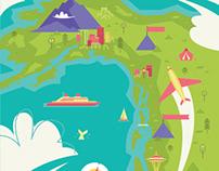 Seattle to Anchorage Alaska