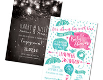 Various Invitation designs