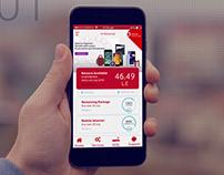 Redesign concept for ana Vodafone app