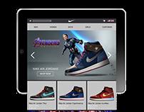 Website Design - Nike Avengers