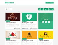 Trade Directory Webpage UI Design