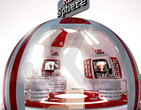 Red Sphere - Exhibition Booth / CG ART - Jamil Khalili