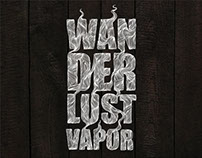 T-shirt graphics for WANDERLUST VAPOR.