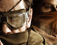 METAL GEAR SOLID V Launch Website UI and Social GIFs