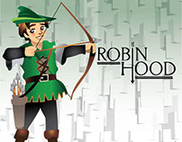 robin hood cartoon illustration