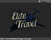 Elite Travel - Website Concept