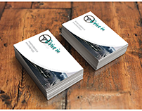 Drive In - Logo/B. Card Design