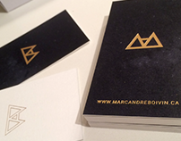Branding - Marc-André Boivin Web Designer UI / UX
