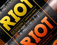 RIOT Beer Label Design