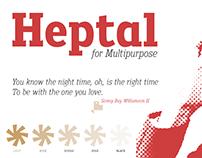Heptal Family Fonts