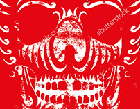 tribal tattoo graphic design vector art