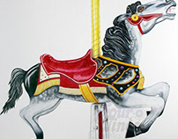 Tuscora Park Carousel Horse