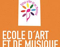 Ecole d'art e de musique. Brand identity