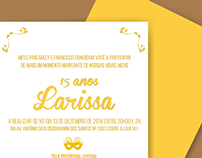 Larissa Gomes - Convite de Aniversário