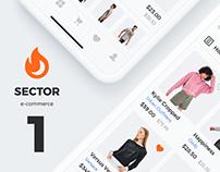 Sector UI Kit. E-commerce
