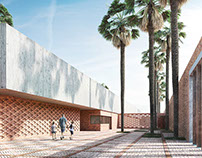 3D rendering of a primary school in Tunis