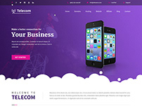 Telecom WordPress theme