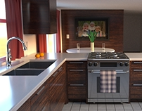 Kitchen Build - Maya